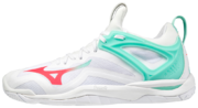 Mizuno Wave Mirage 3 (21) Sisäpelikengät (White/Coral/Ice Green)